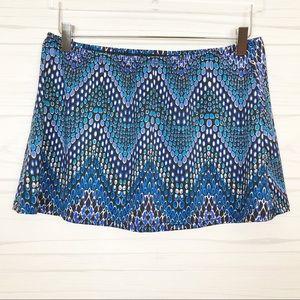 Longitude Blue Afternoon Safari Skirt Cover-Up